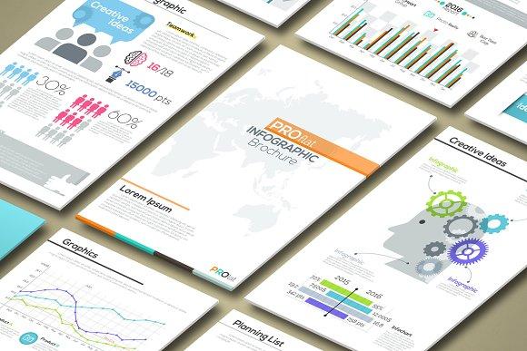 Pro Flat Infographic Brochures. P1 - Brochures