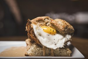Chicken Biscuit Egg Sandwich