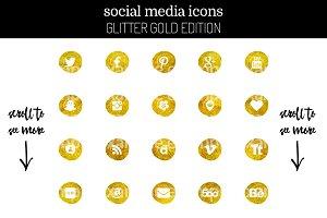 29 Feminine Gold Social Media Icons