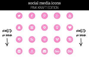 29 Feminine Pink Kraft Social Icons