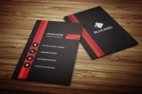 Vertical Business Card Template V Business Card Templates - Business card vertical template