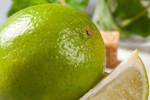Fresh lime for making mojitos