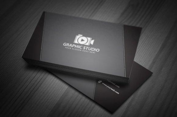Dark black exclusive business card business card templates dark black exclusive business card business card templates creative market colourmoves