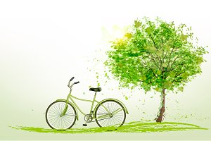 Summer Background With A Green Trees