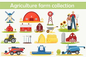 Farm Agriculture elements bundle.