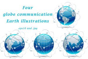 Globe communication Earth