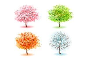 Four Stylized Trees