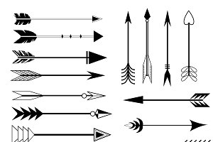 Arrow Clip art Set in Vector