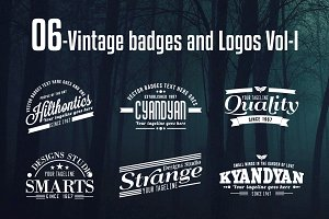 Vintage Badges and Logos Vol-1