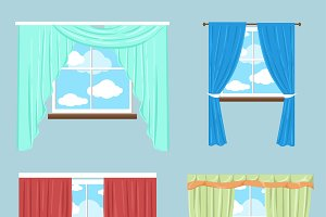 Curtains drapery shades blinds