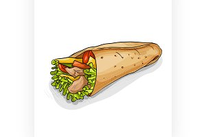 Burrito color picture sticker