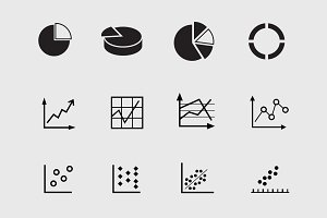 12 Graph and Chart Icons