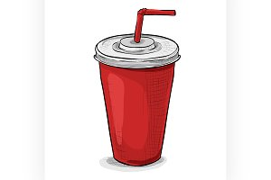 Cola cup color picture