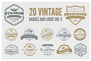 Vintage Badges and Logos Vol-5