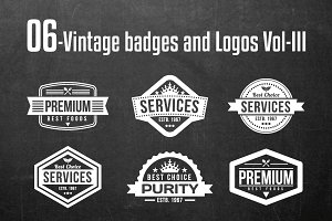 Vintage Badges and Logos Vol-3