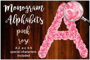 Alphabets Pink Rose