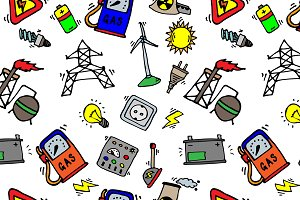 Energy Icons Pattern