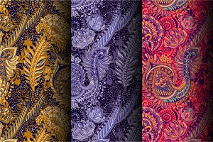 3 Indian Seamless Patterns