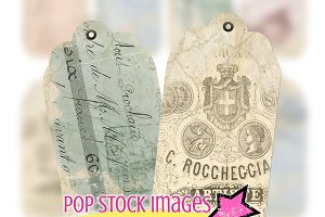 Shabby Chic French Ephemera Tags
