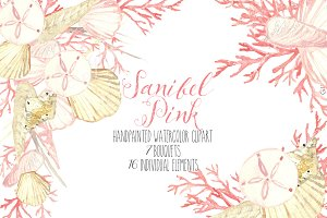 Sanibel Pink Seashell clipart