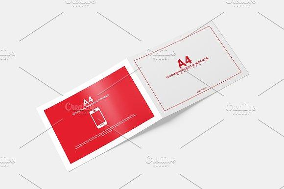 Free A4 Bifold Horizontal Brochure MockUp