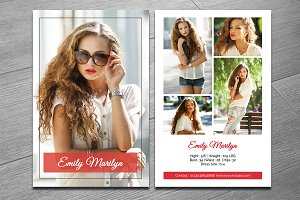Modeling Comp Card Template-V321