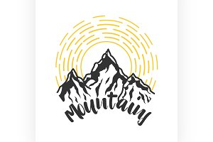 Mounitains color emblem