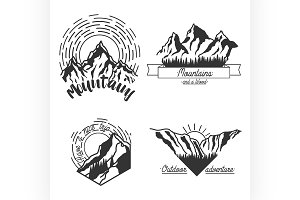 Mountains black emblems