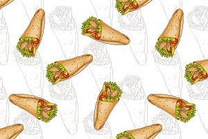 Seamless pattern burrito