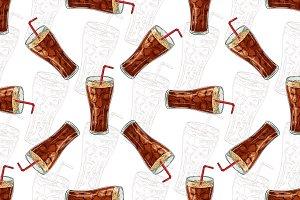 Seamless pattern cola