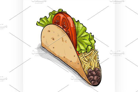 Taco, color picture