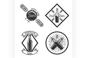 Vintage beer brewery emblems
