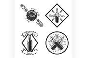 Vintage beer brewery emblems