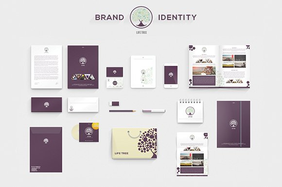 visual style guide template - lifetree brand identity stationery templates