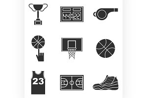 Basketball icon set