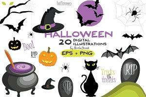 Halloween - Vector Cliparts