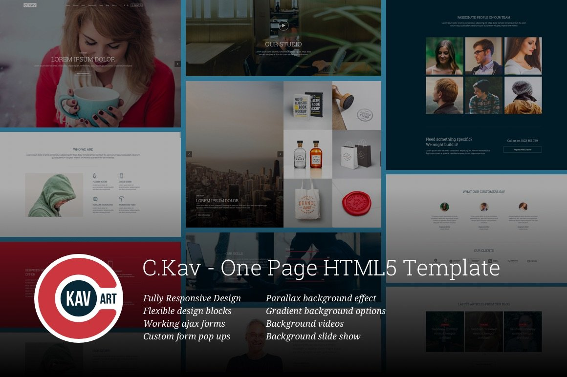 C.Kav - One Page HTML5 Template ~ HTML/CSS Themes ~ Creative Market