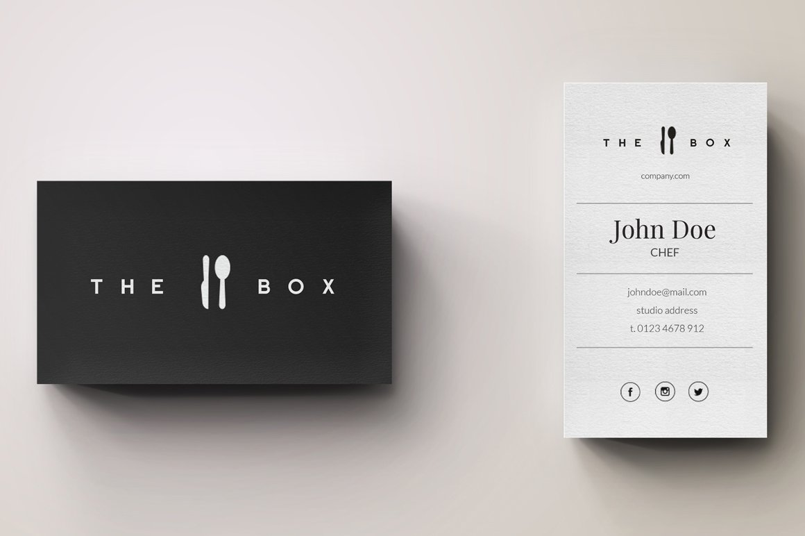 Chef Minimal Logo And Business Card Business Card