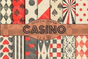 Black and red patterns 'Casino'