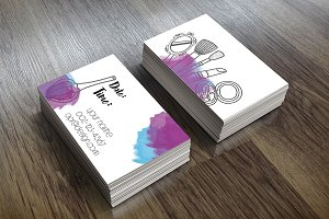 MAKEUP RESERVATION VISITING CARD
