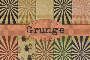 Grunge backgrounds with starbursts