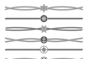 Marine ropes vector dividers