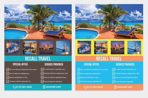 Tour Travel Agency Flyer Template ~ Flyer Templates ...