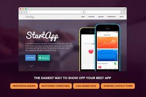 StartApp - Responsive Landing Page