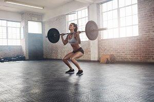 Fitness female athlete