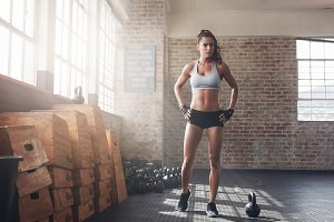 Determined fitness woman