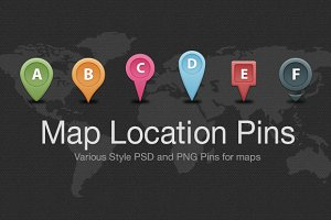 Map Location Pins