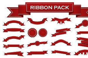 Red ribbons and stumps pack