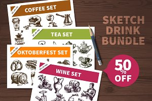 Sale 50%! Sketch Drink Bundle