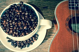 Coffee background vintage tone style